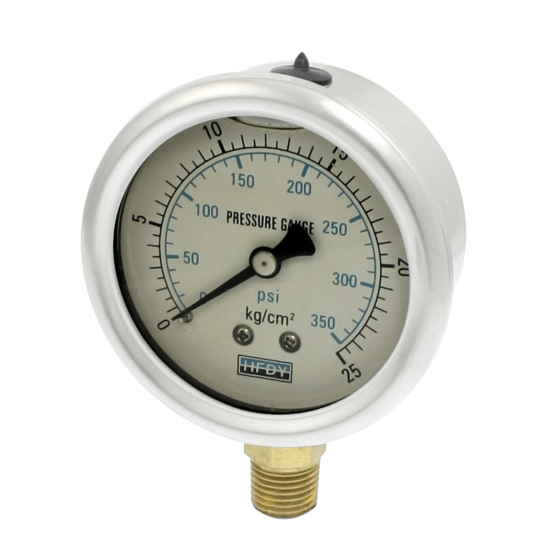 "Y-60 0-25kg/cm2 1/4""PT Lower Mount Model Oil Filled Pressure Gauge"