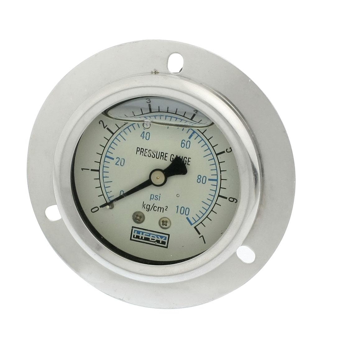 """0-100psi 1/4""""PT Axial Y-60 Model Oil Filled Pressure Gauge"""