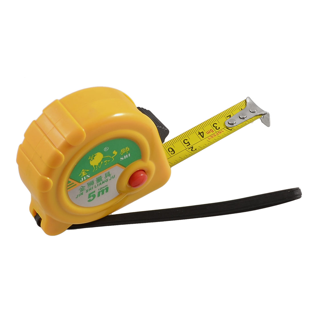 5 Meters 16 Ft Length Locking Measuring Tape Ruller w Hand Strap