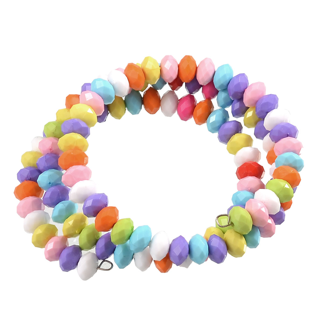 3 Layers Colorful Colorized Plastic Beads Bracelet Bangle Wristband