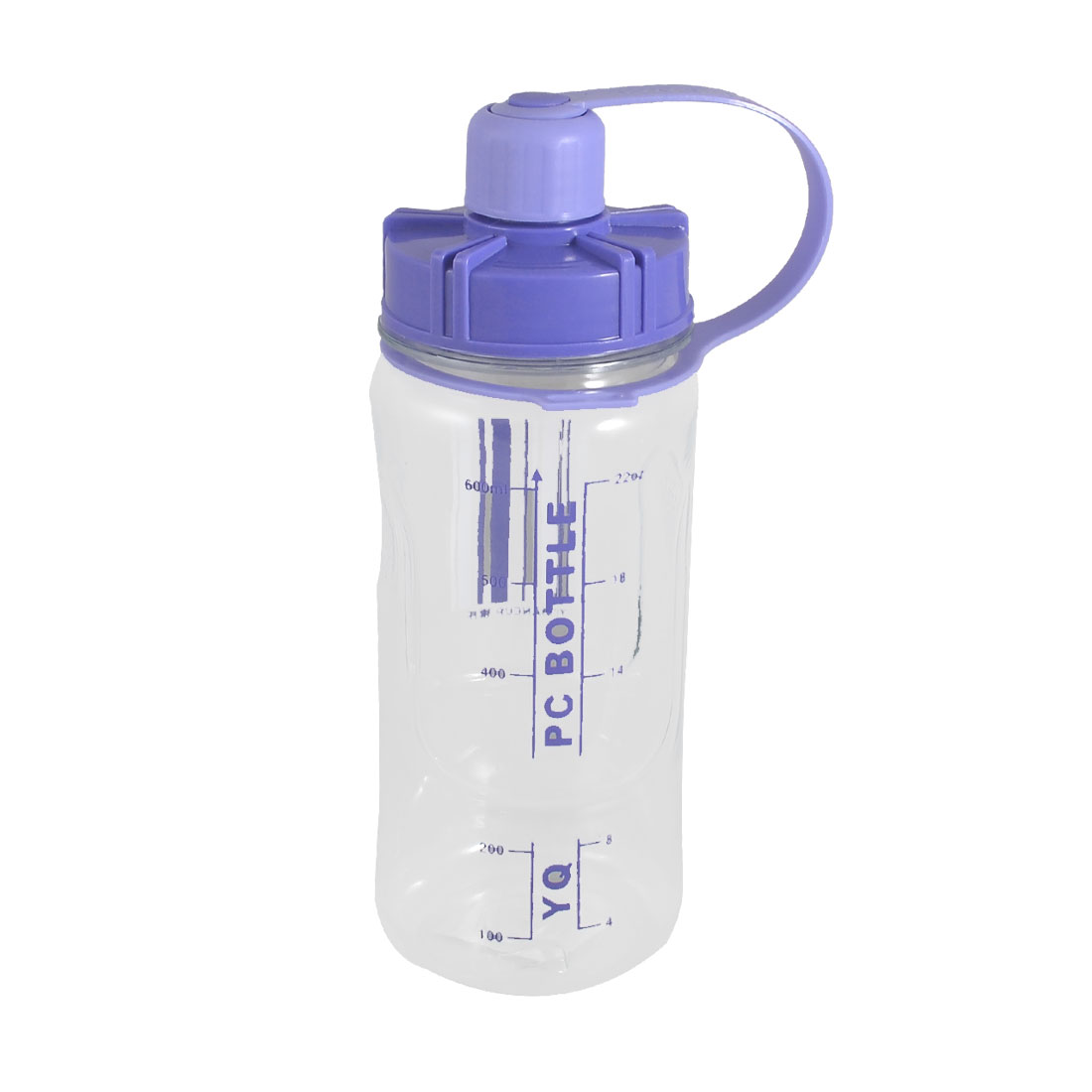Tea Strainer Design Cylinder Blue Clear Plastic Sports Water Bottle 600ml