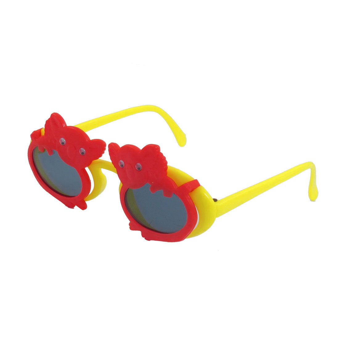 Koala Decor Full Frame Yellow Arms Dual Layer Plastic Sunglasses for Children