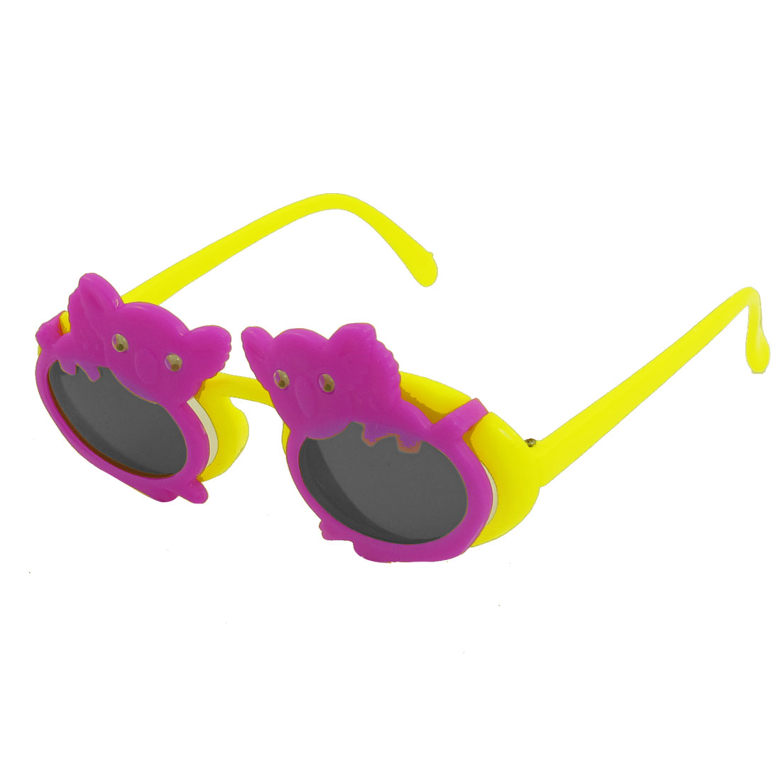 Koala Design Full Rim Yellow Arms 2 Layers Plastic Sunglasses for Kids