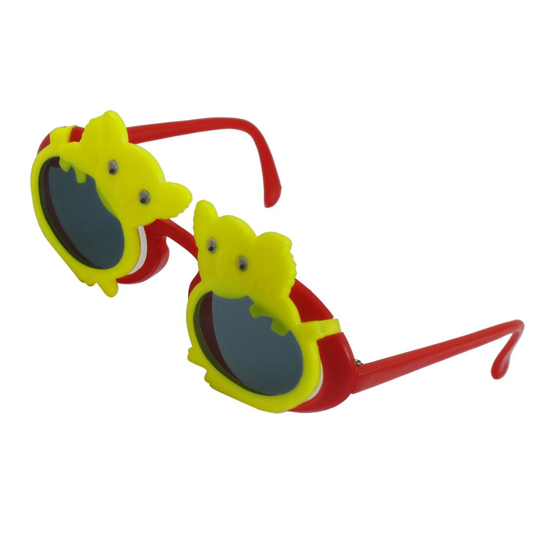 Koala Design Full Rim Crimson Arms 2 Layers Plastic Sunglasses for Kids