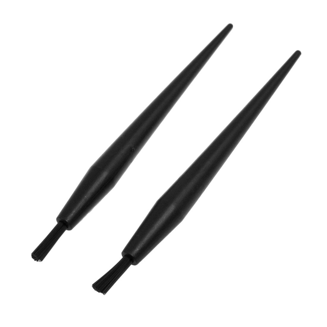 2 Pcs Black Plastic Handle Pen Shaped Anti Static Conductive ESD Brush