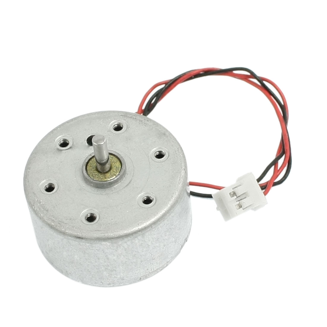 Silver Tone 2mm Dia Shaft 6000RPM Synchronous Motor DC 3V