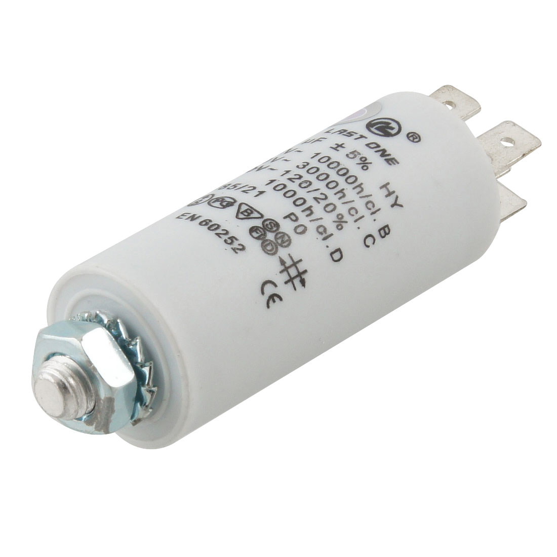 Washing Machine AC 450V 4uF 8mm Thread Non Polar Motor Running Capacitor