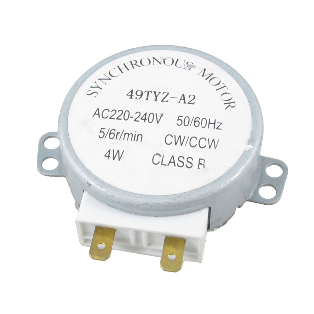 Microwave Oven Turntable Synchronous Motor 4W AC 220-240V 5/6RPM CW/CCW