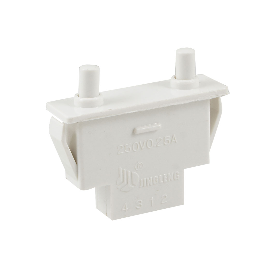 White Plastic Housing NC 250V 0.25A Refrigerator Door Switch