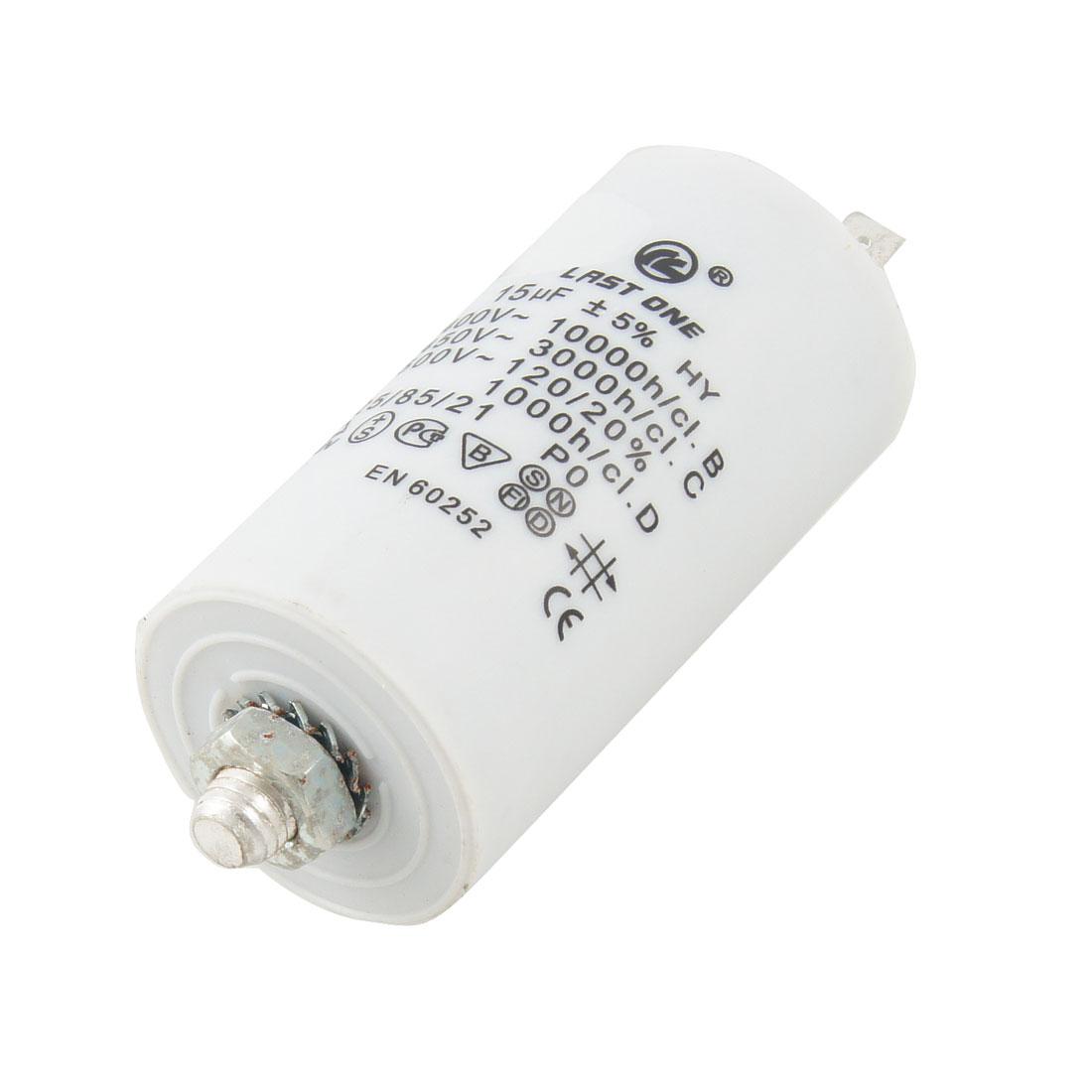 AC 450V 18uF 8mm Thread Polypropylene Film Capacitor for Washing Machine