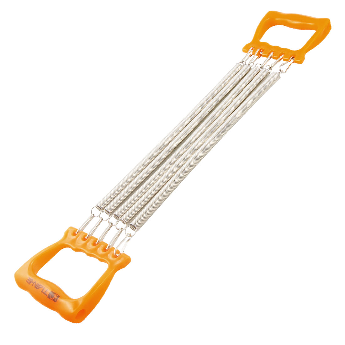 Child Orange Handle Five Springs Chest Expander Pull Exerciser