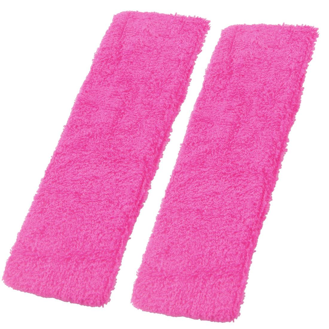 2 Pcs Fuchsia Spa Bathing Elastic Fabric Headband for Women
