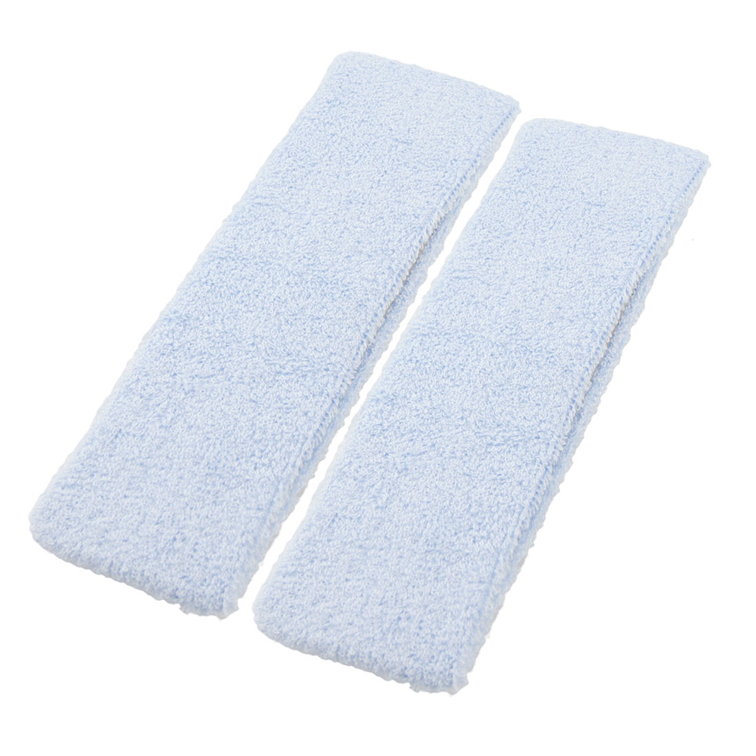 2 Pcs Pale Blue Outdoor Sports Sweatproof Hair Band Sweatband