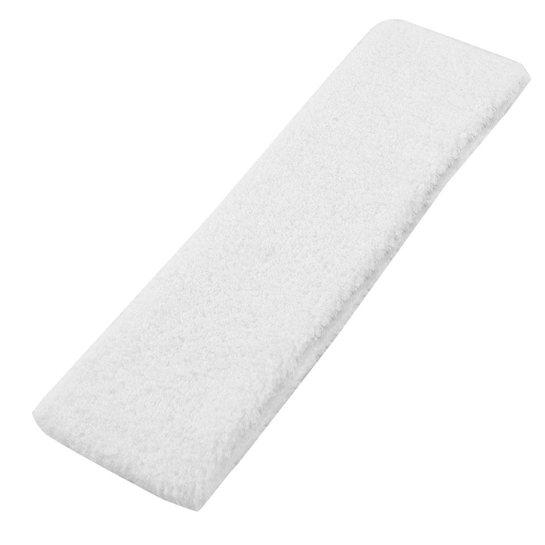 2 Pcs White Terrycloth Headband for Holding Fringe Bang Hair
