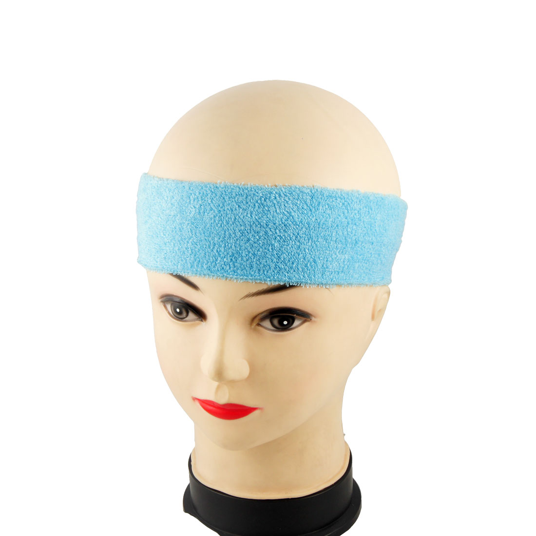 Sky Blue Elastic Fabric Hair Band for Holding Forehead Hair 2 Pcs