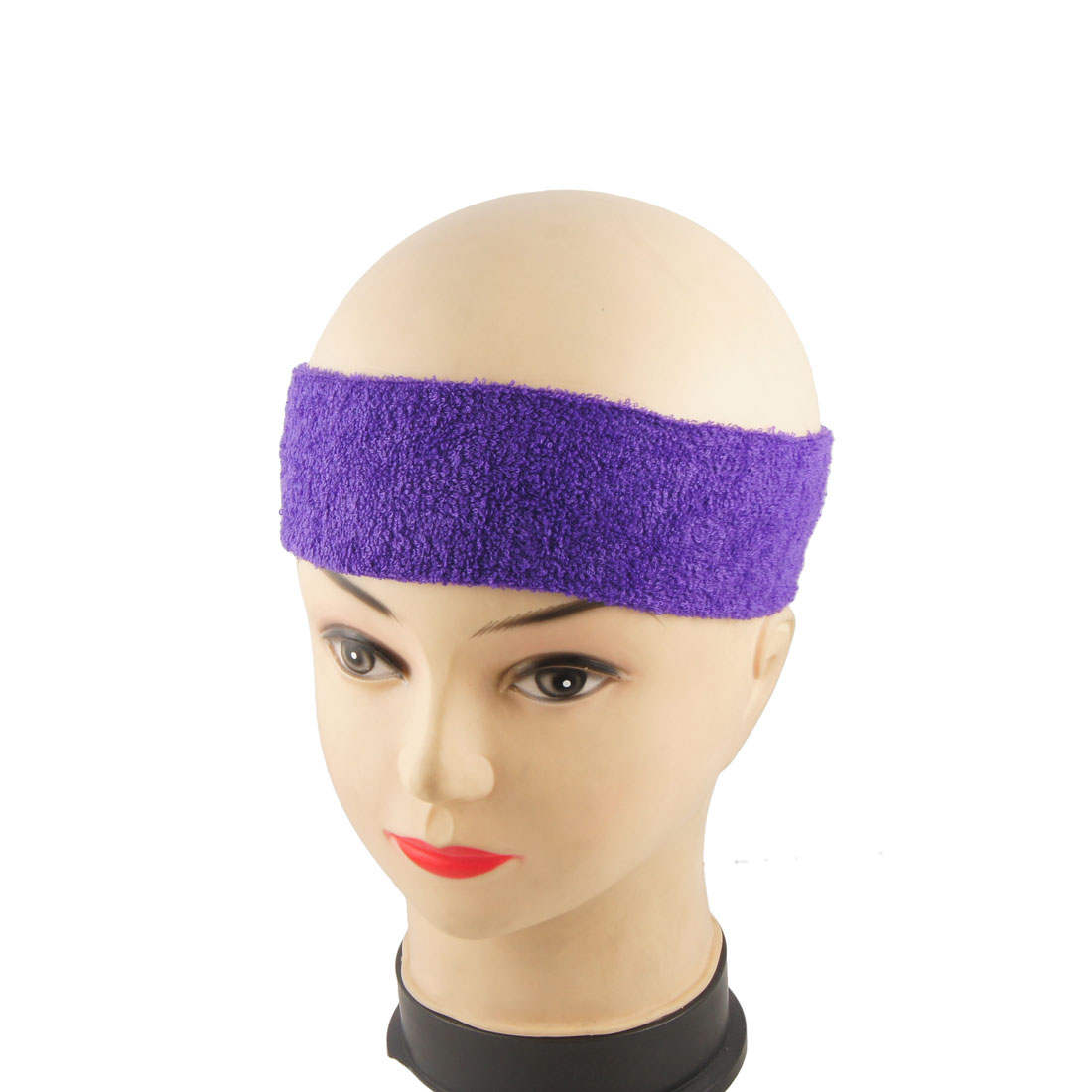 Dark Lavender Bathing Spa Springy Headscarf Hair Band 2 Pcs