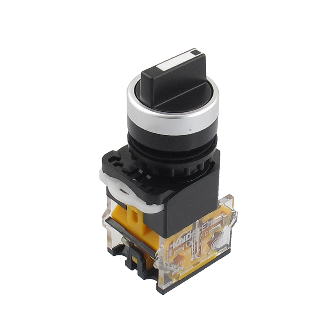 415V 10A Latching On/Off/On 3 Position Rotary Selector Switch 22mm