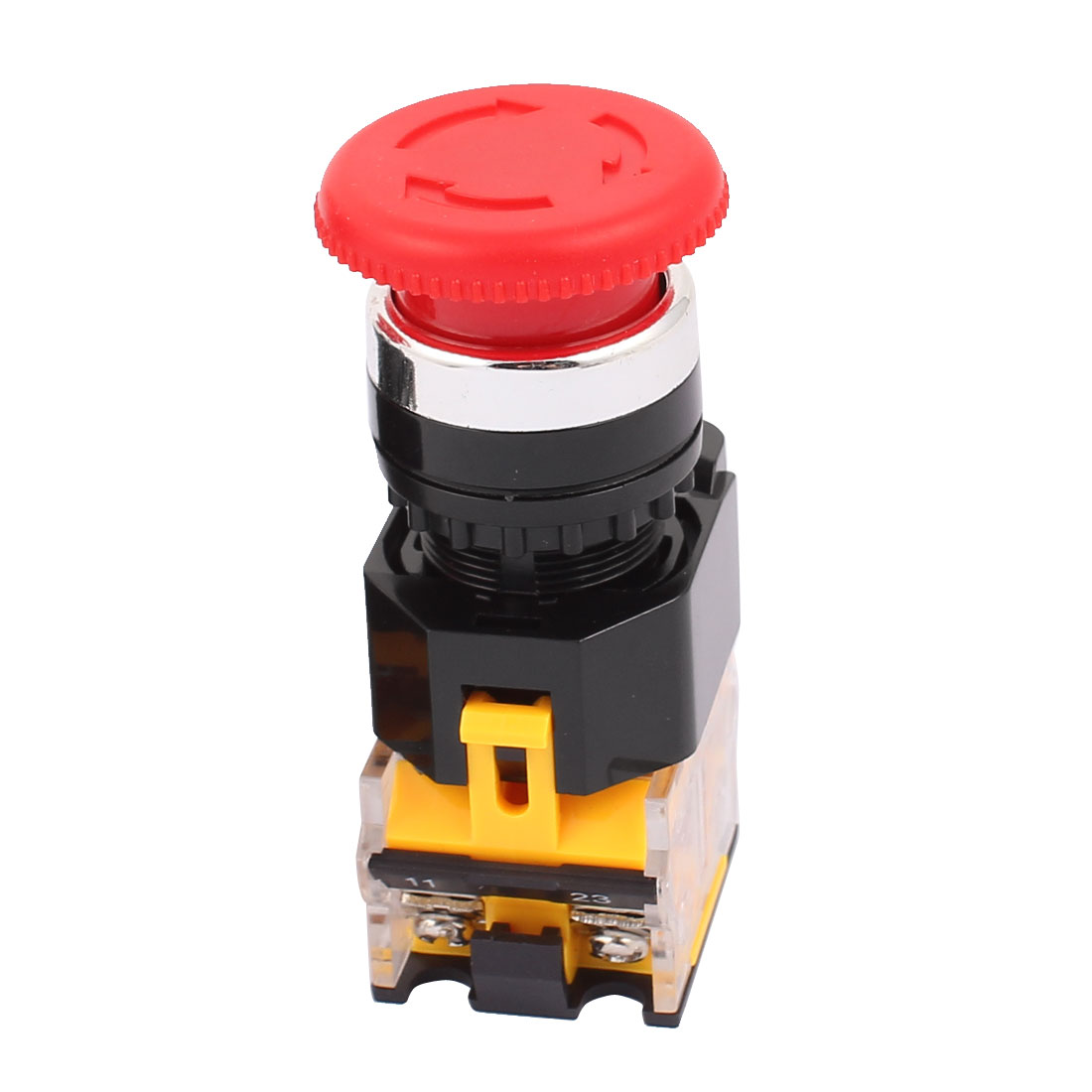 400V 10A Momentary NO + NC Mushroom Push Button Switch Emergency Stop
