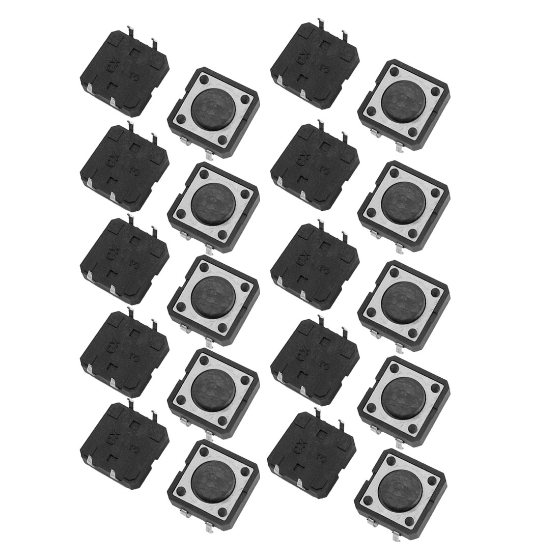 20 Pcs 12x12x4.3mm PCB Momentary Tact Push Button Switch 4 Pin DIP