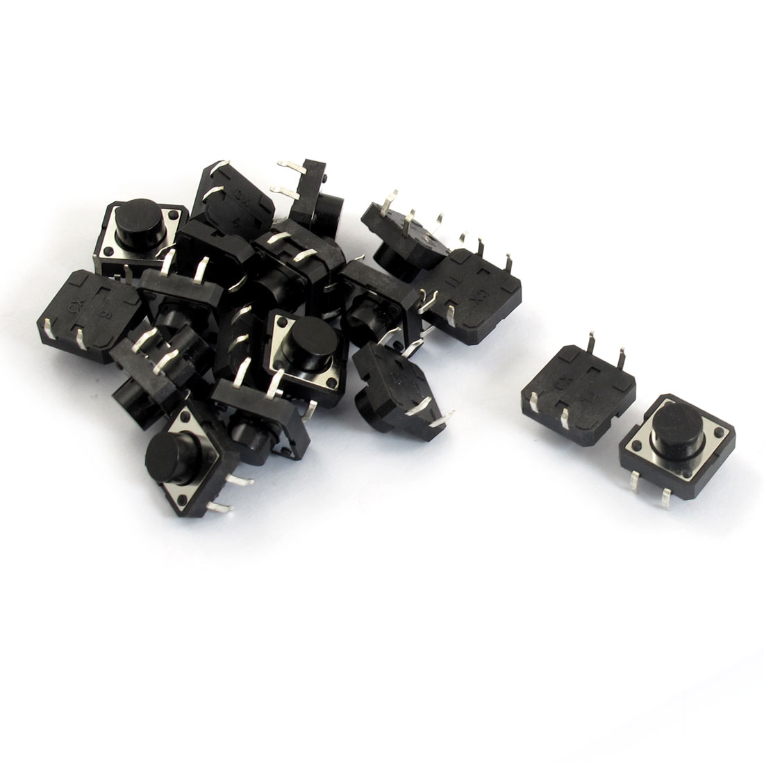 20 Pcs 12x12x7mm PCB Momentary Tact Push Button Switch 4 Pin DIP