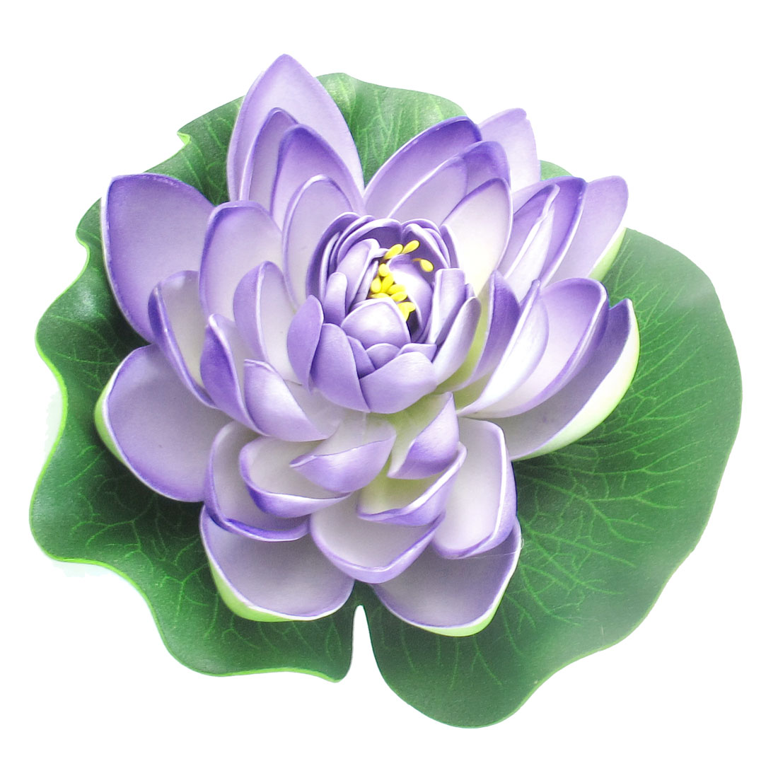 "2.4"" Height Floating Green Purple Lotus Water Plant Decoration for Fish Tank"