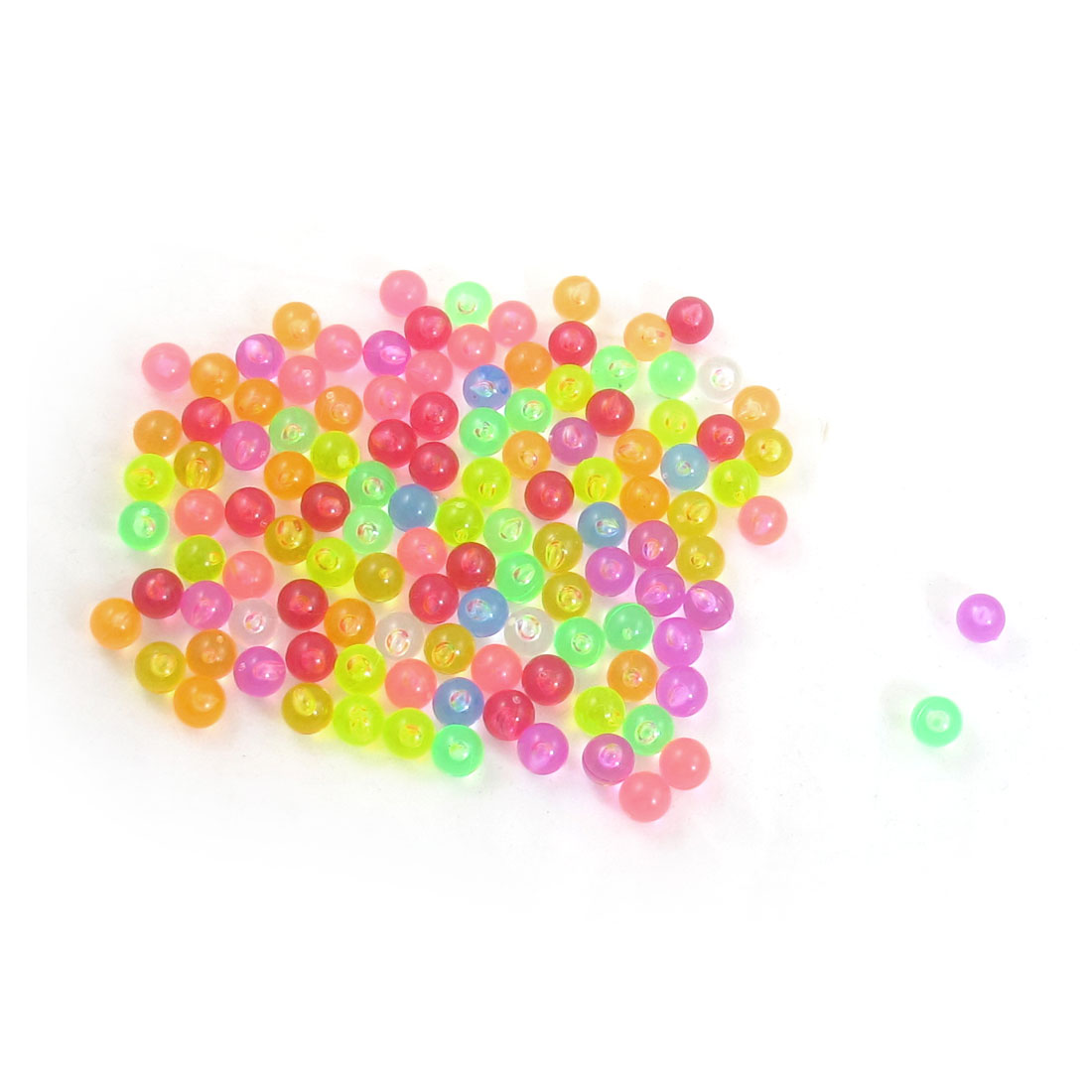 Aquarium Colorful Plastic Beads Ornament Fish Tank Decor 120pcs