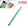 2 Pcs Green Alloy Slim Hand Writing Stylus Pen for Apple iPad