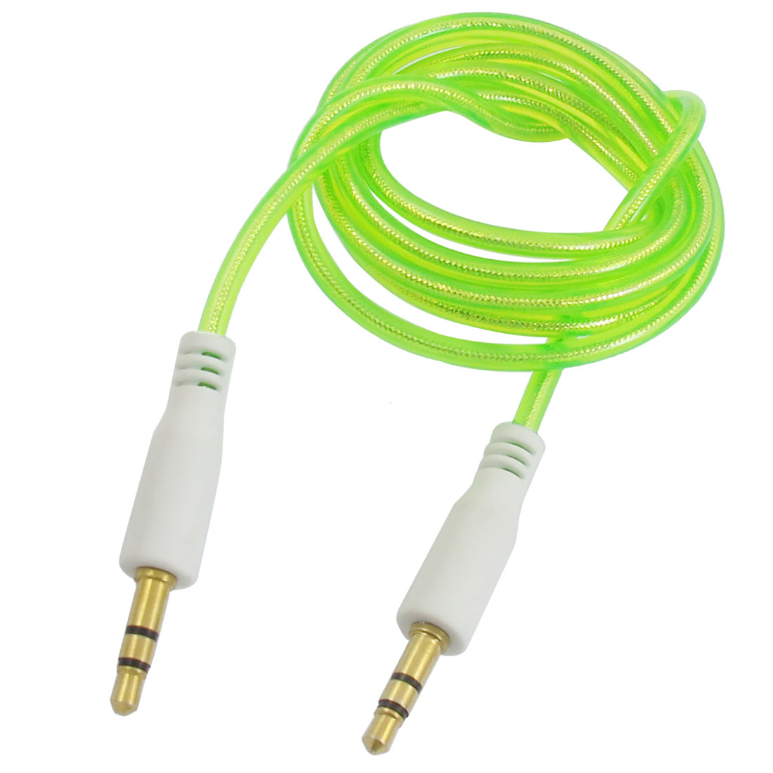 Green 3.5mm Male to 3.5mm Male Plug Stereo Audio Extension Cable 1M