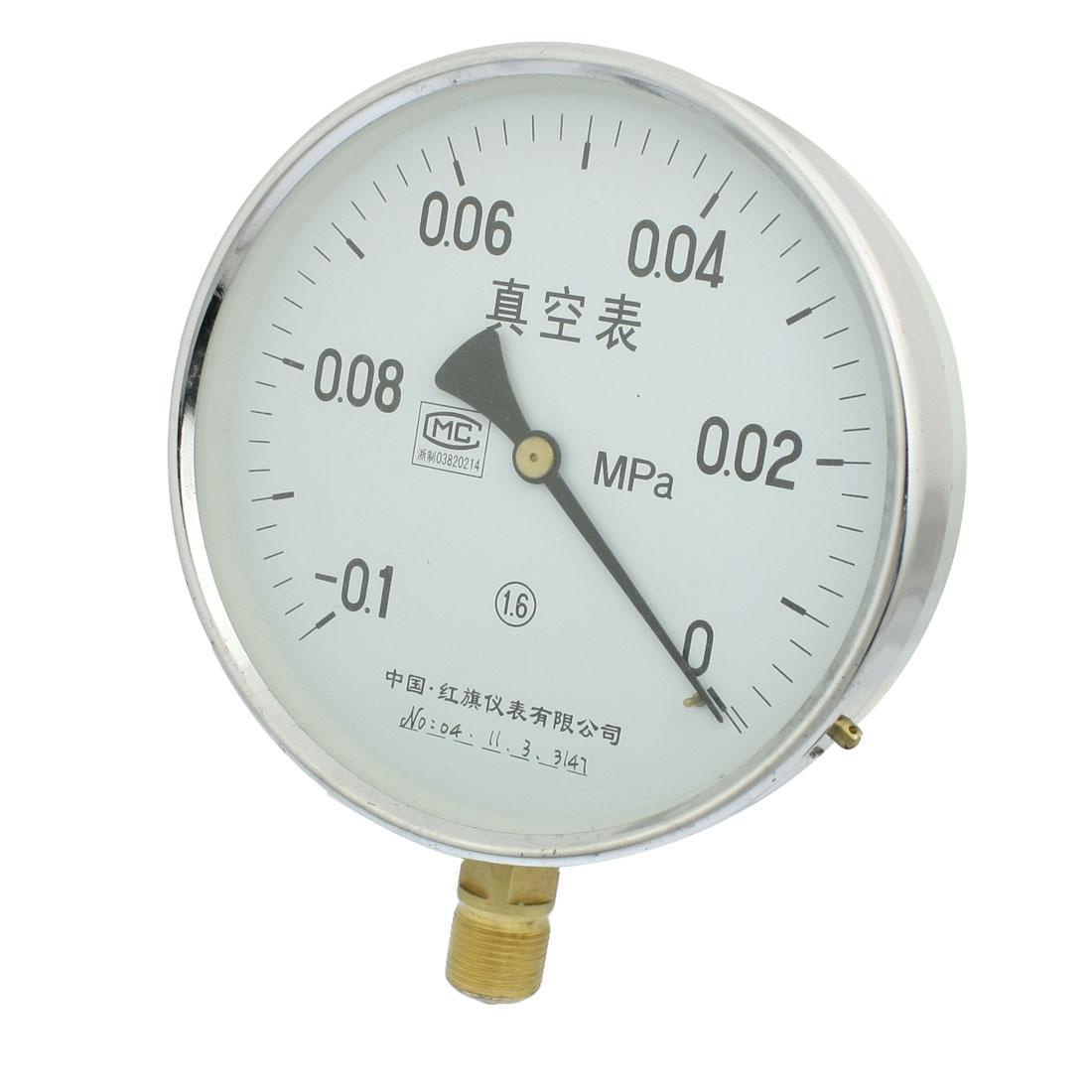 Class 1.6 -0.1-0MPa 20mm Thread Diameter Water Air Pressure Gauge