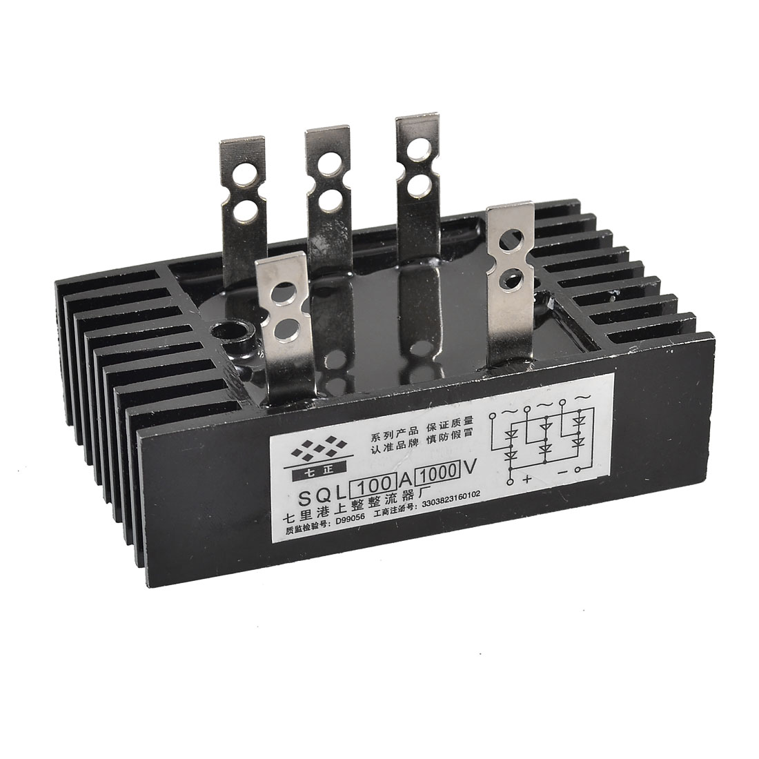 SQL 100A 1000V 3 Phase Diode Metal Case Bridge Rectifier
