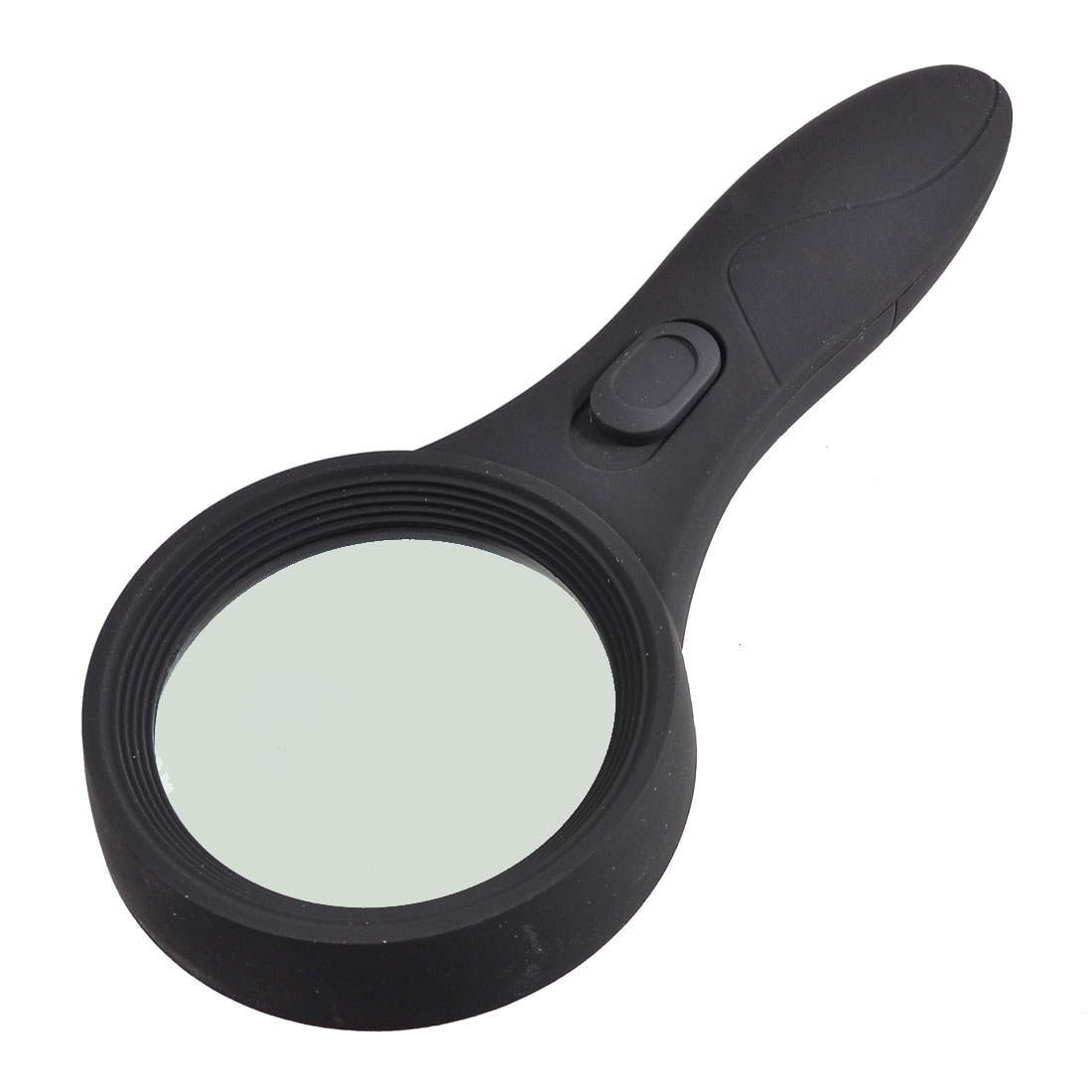 60mm Len Dia White Light 6 LED Illuminated Magnifier 4X Magnifying Glass
