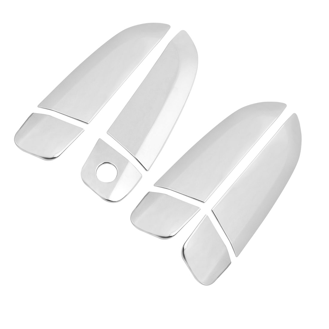 4 Pcs Silver Tone Chrome Car Door Handle Cover Set for Chevrolet Sail