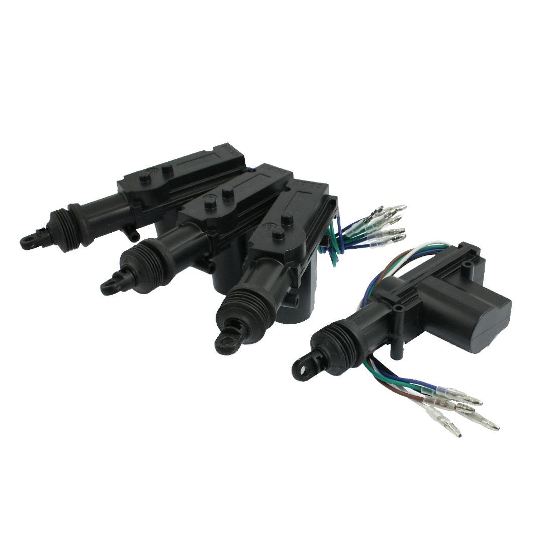 Vehicles Car Central Entry 4 Door Lock Locking System Kits Black 12V