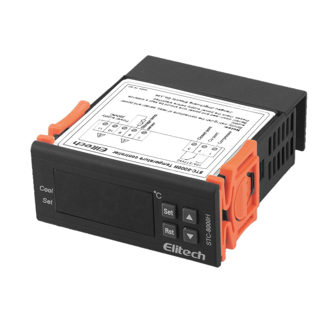 Microcomputer LCD Temperature Controller Thermostat w Probe Sensor Cable