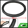 Nonslip Seamed Half Mesh Black Faux Leather Car Steering Wheel Cover