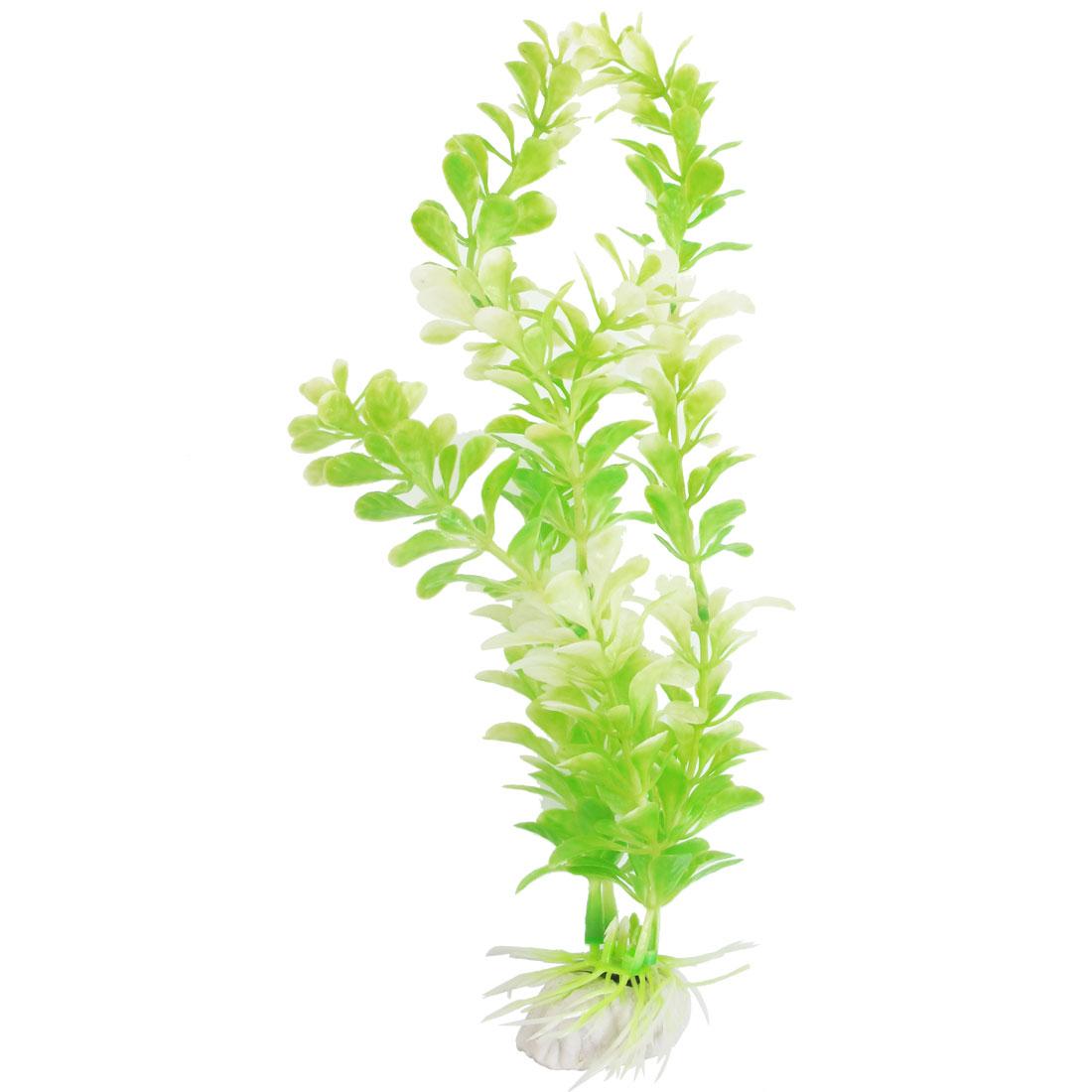 "9.84"" Light Green Plastic Aquarium Decor Grass for Fish Tank"