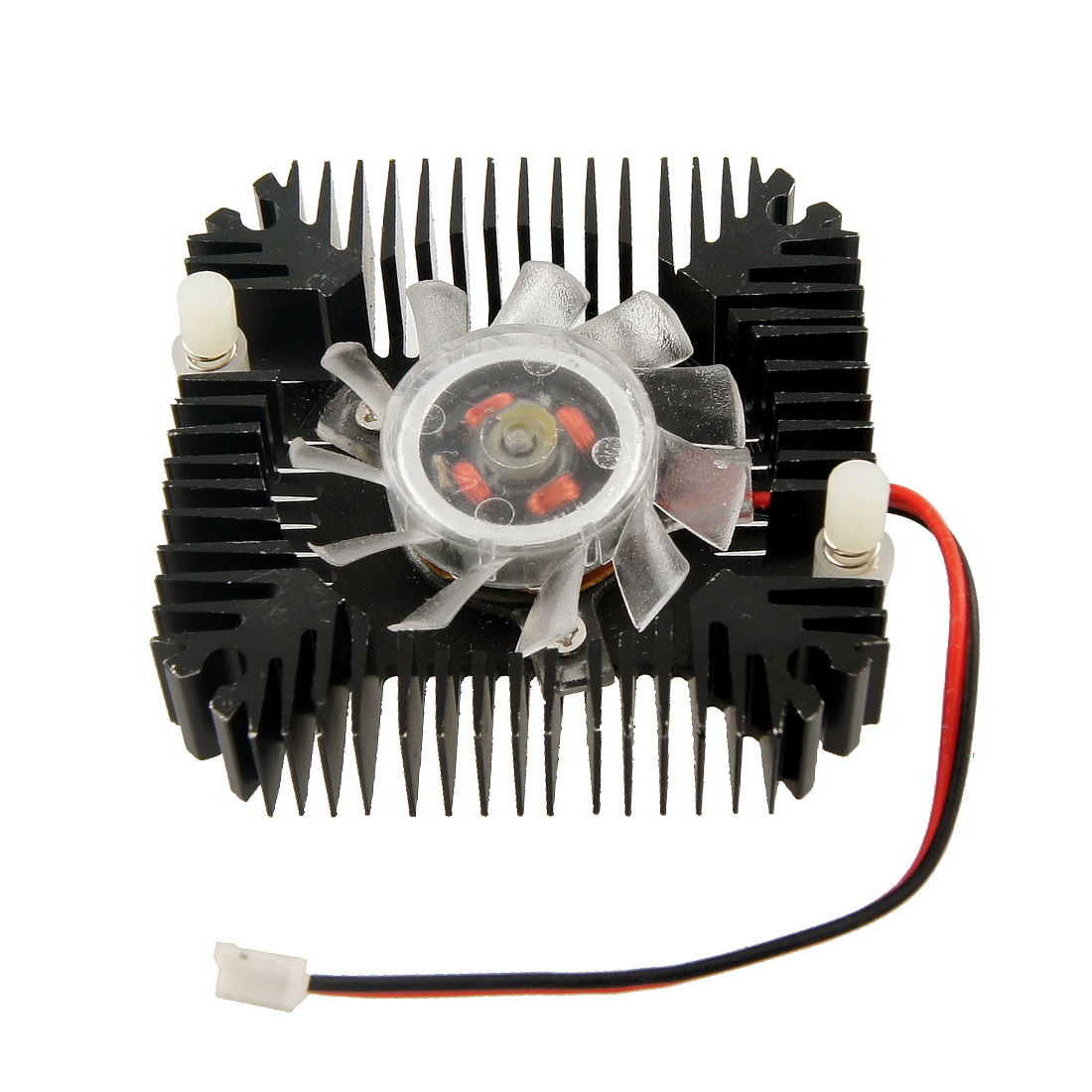 Black Plastic 11 Paddle Square DC 12V 0.1A Video Card Cooler Fan
