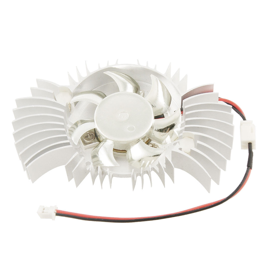 DC 12V 2Terminals Batterfly Shaped Computer Card Heatsink Cooling Fan Cooler