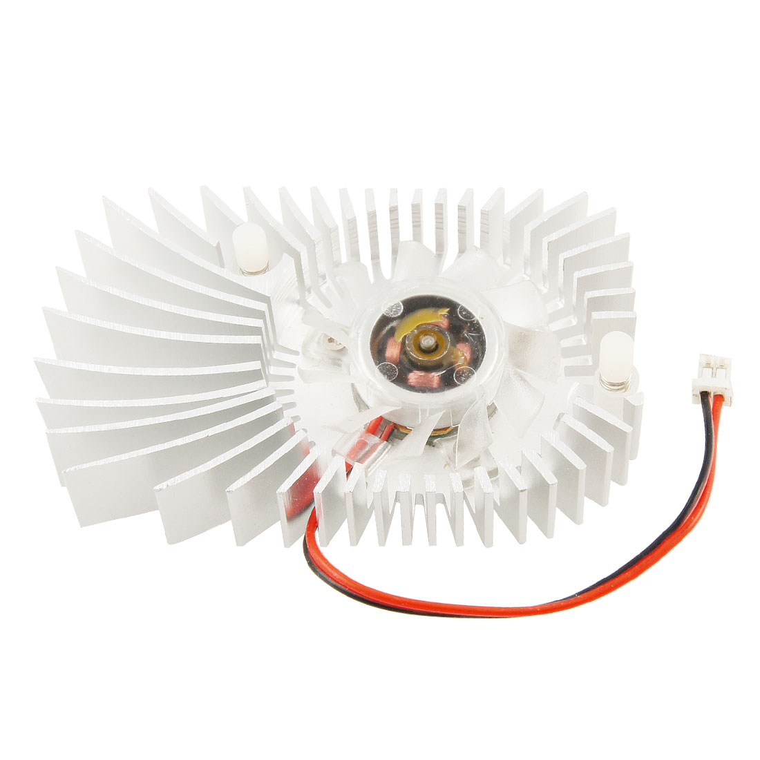 DC 12V 2 P Sparrow Shaped Computer Card Heatsink Cooling Fan Cooler