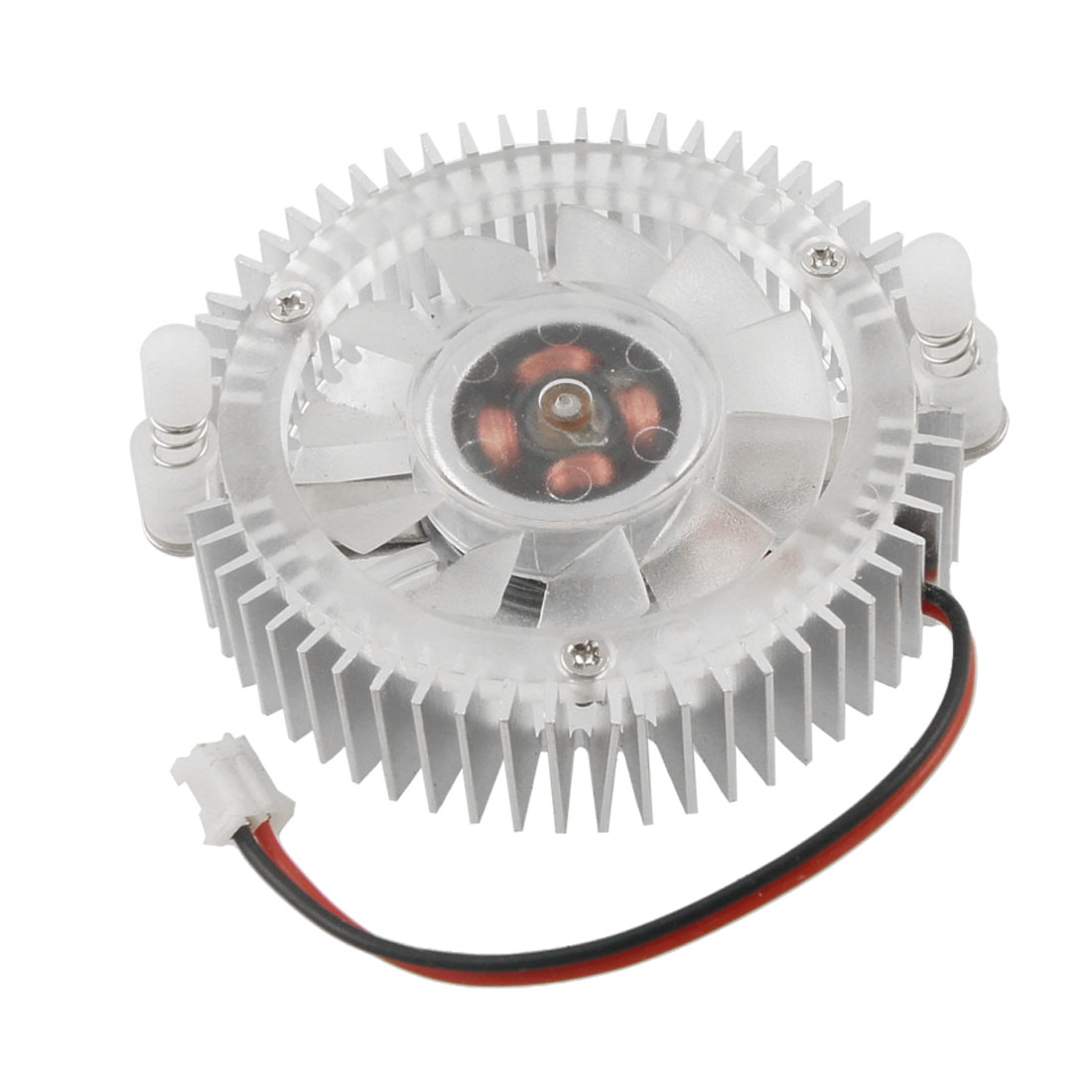 Silver Tone DC 12V 0.1A Video Card CPU Cooler Cooling Fan