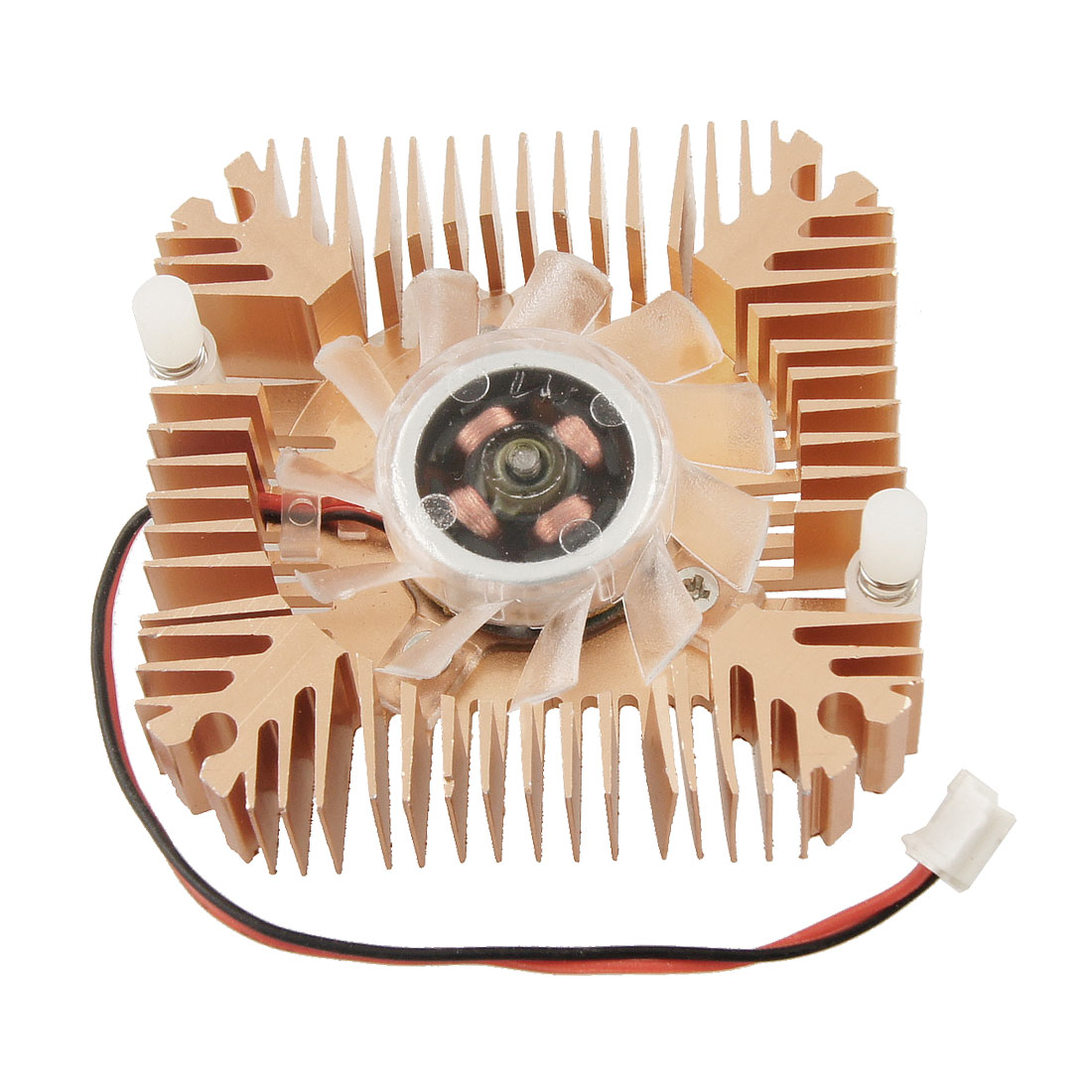 Copper Tone Square DC 12V 0.1A Video Card CPU Cooler Cooling Fan