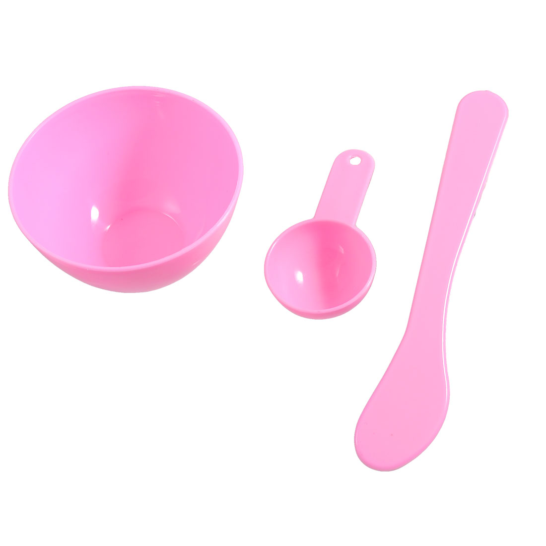 Ladies 3 in 1 DIY Facial Skin Care Mask Bowl Mixing Stick Gauge Spoon Set Pink