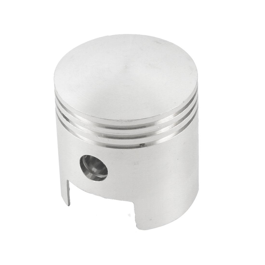 Silver Tone Aluminum Alloy 45mm x 45mm Engine Air Compressor Piston