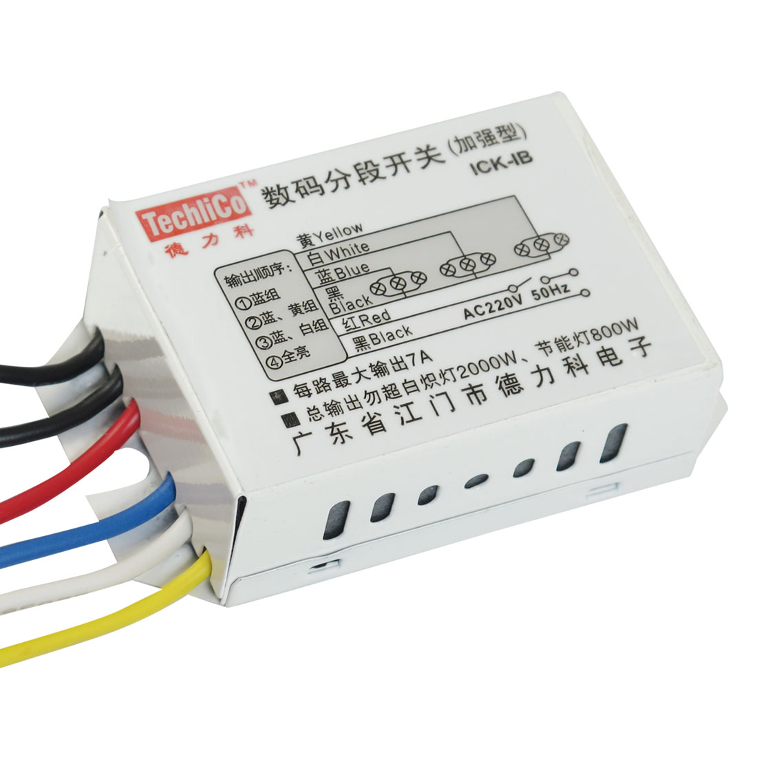AC 220V 50Hz 4 Way 3 Section Lamp Digital Control Change Frequency Switch