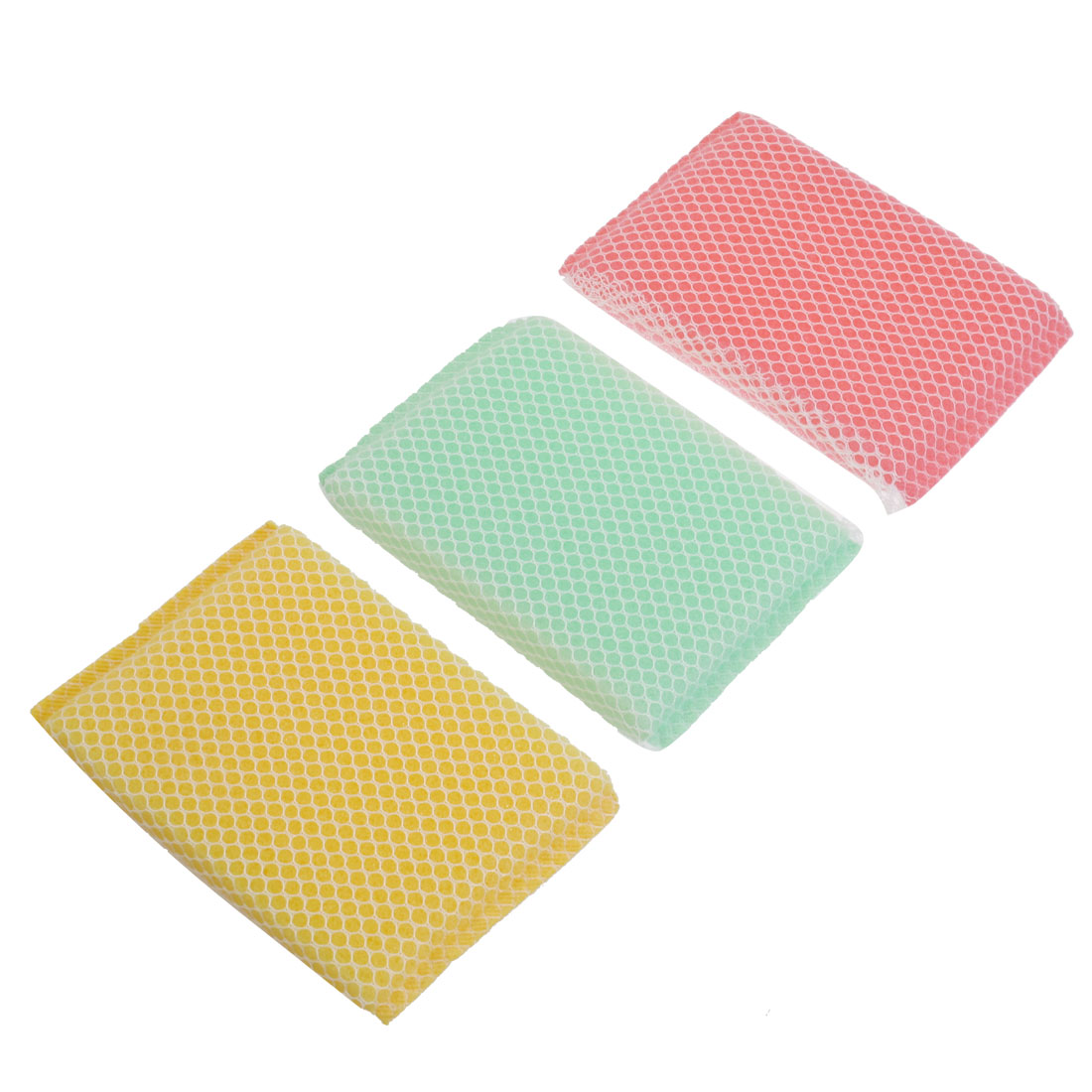 3 Pcs Bowl Dish Cup Net Washer Cleaning Sponge Cleaners