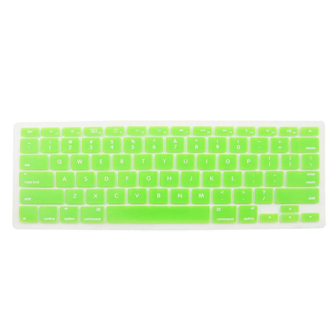 Green Soft Silicone Keyboard Protective Film Cover for Apple Macbook Pro