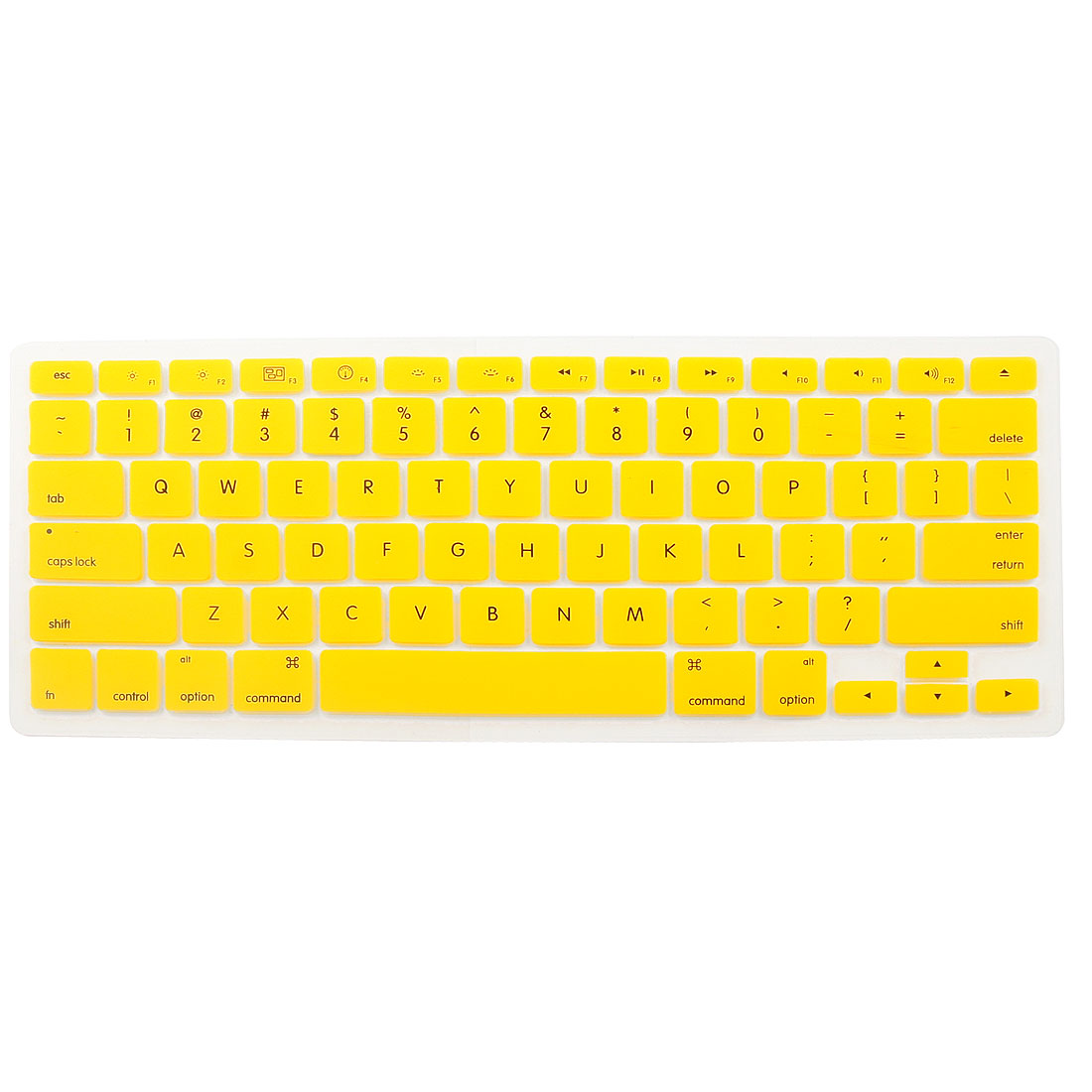 Yellow Soft Silicone Keyboard Protective Film Cover for Apple Macbook Pro