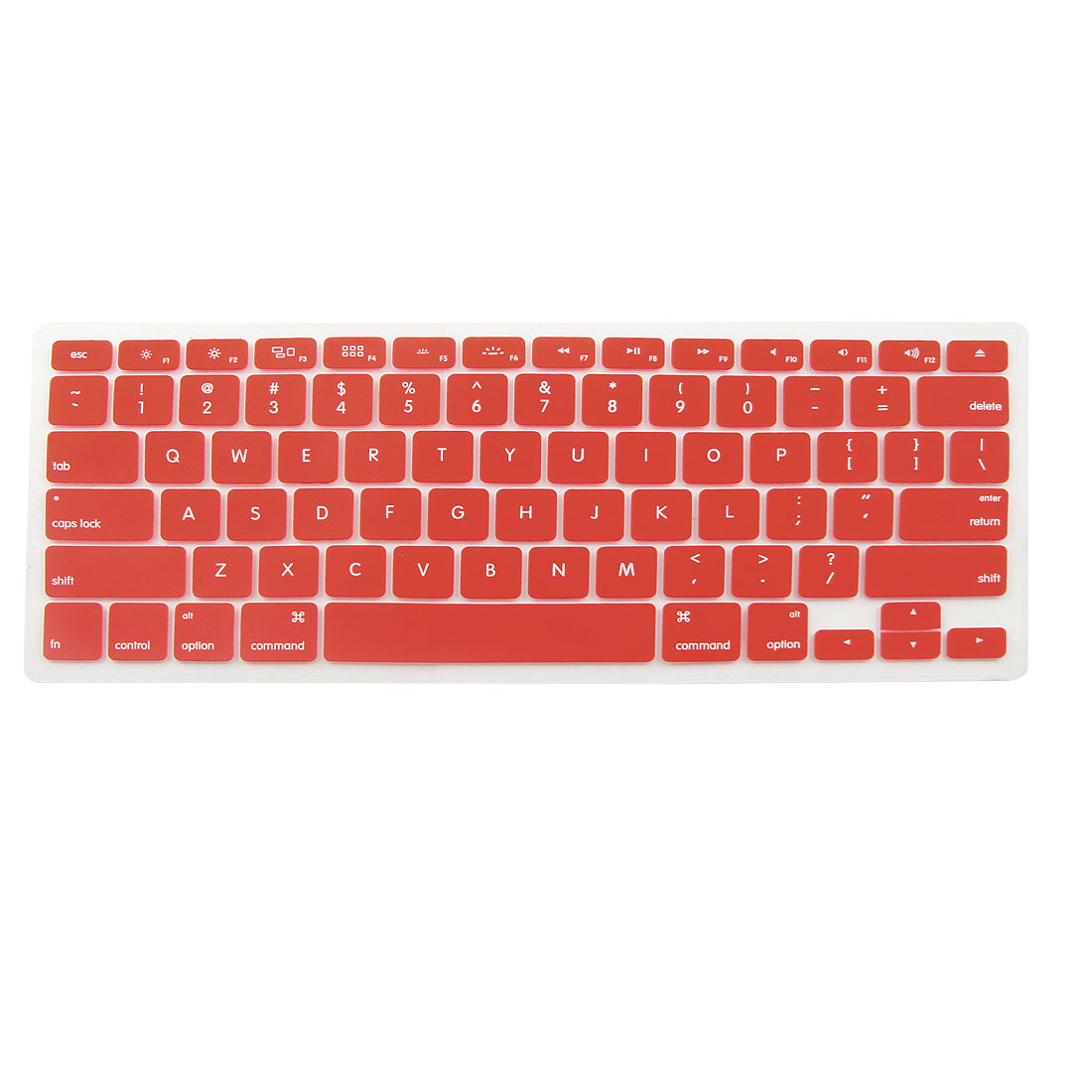 Red Silicone Anti Dust Cover Skin Keypad Film for Apple Macbook Pro