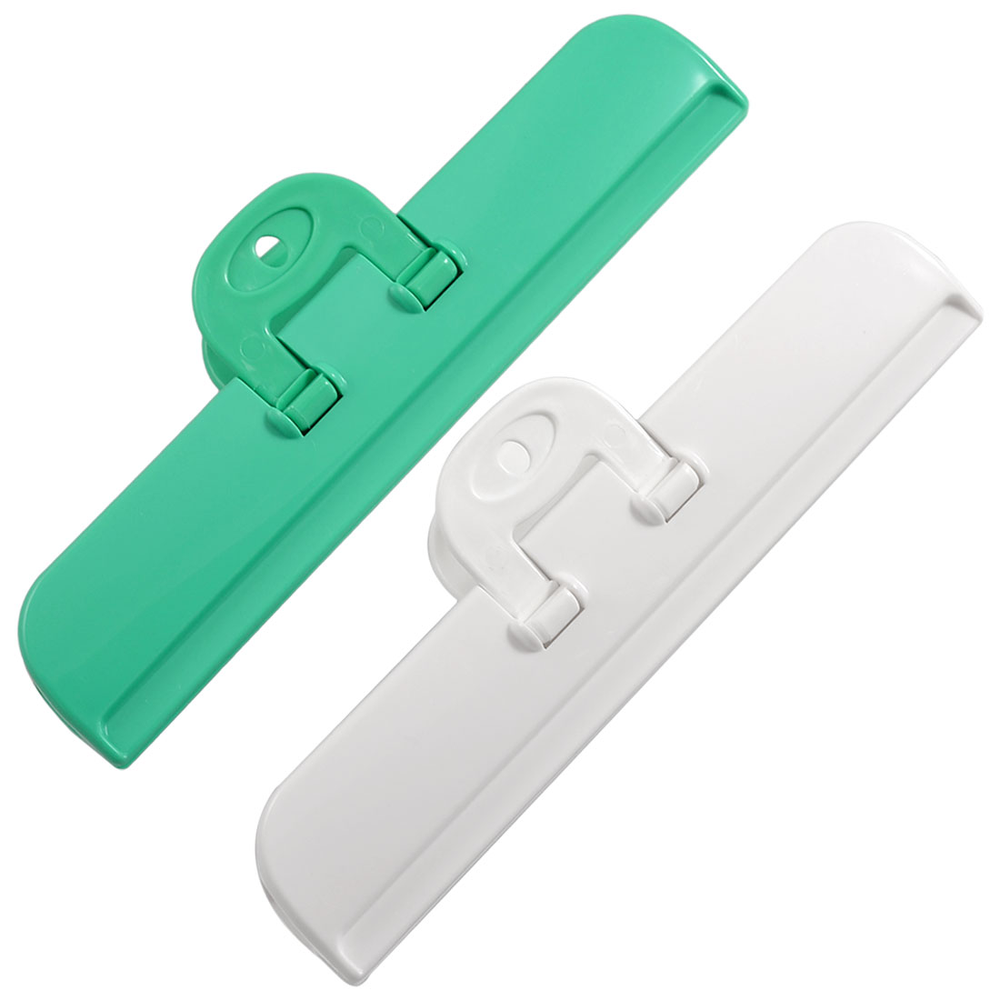 2 Pcs Food Storage Bag Sealing Clips Airtight Pocket Clamps Green White