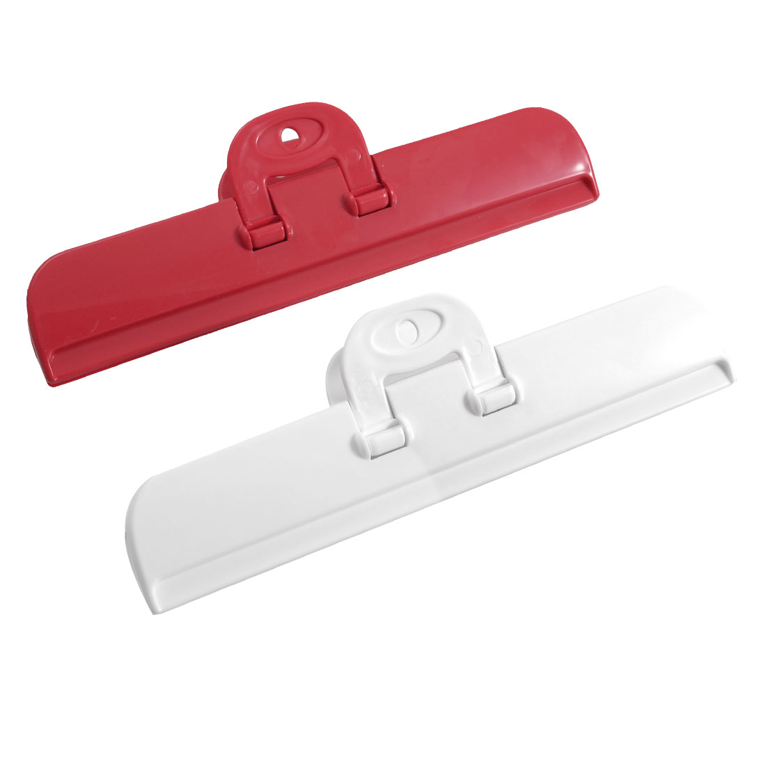 2 Pcs Red White Plastic Food Airtight Pocket Bag Sealing Clips
